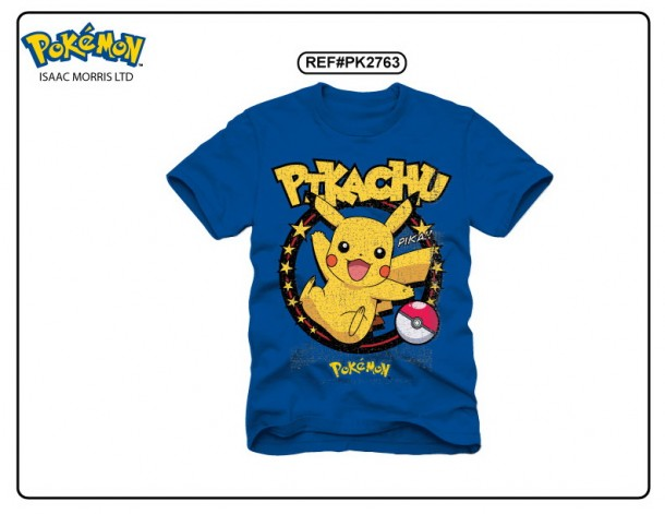 1bccfbde YesAnime.com | Pokemon Pikachu Blue T-shirt