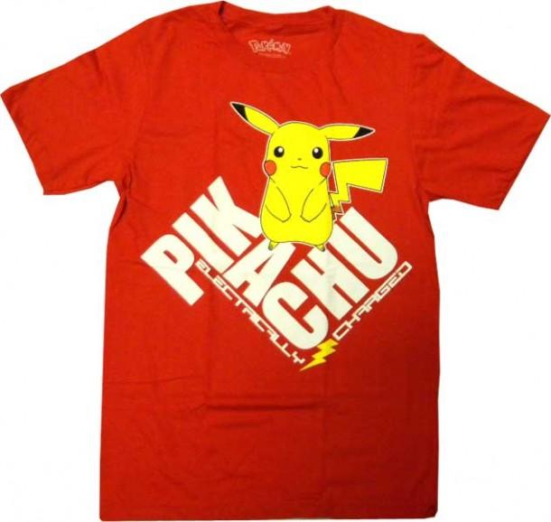 fb7b7588 YesAnime.com | Pokemon Pikachu Red T-shirt