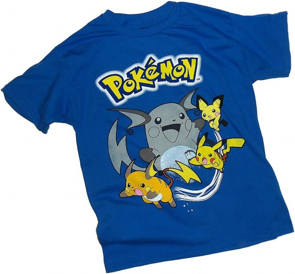 7d9b05da YesAnime.com | Pokemon Pikachu & Friends Group Youth T-Shirt Blue