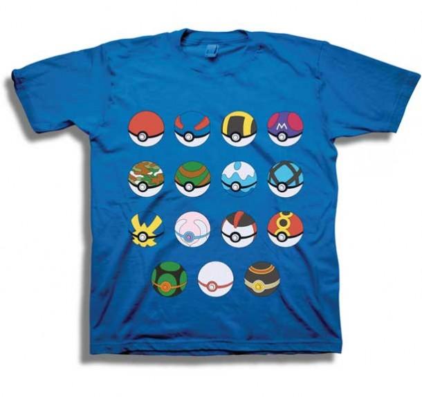 5fa1effa YesAnime.com | Pokemon Poke Ball Youth T-Shirt Blue