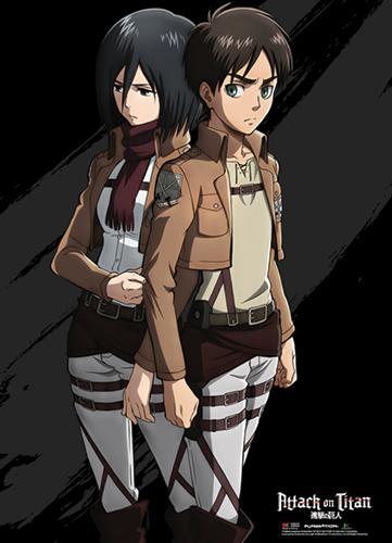 Attack on Titan Chibi Mikasa Wall Scroll Poster Anime Manga NEW