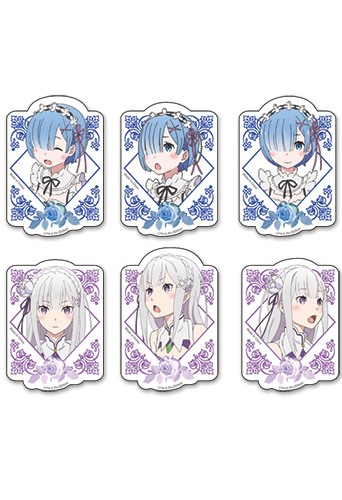 Yesanime Com Re Zero Rem And Emilia Die Cut Sticker Set